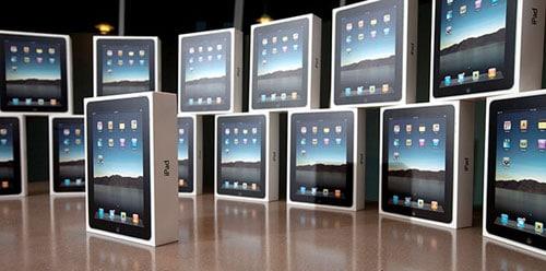 витрина магазина с iPad
