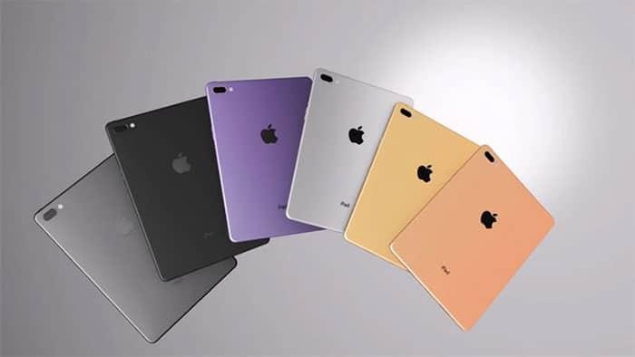 цвета нового планшета от apple